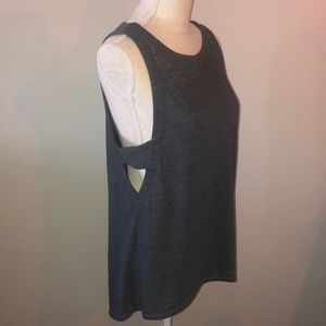 Chaser grey burnout cutout tank from Pure Barre